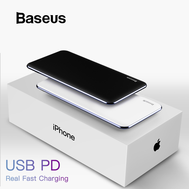 Baseus USB PD Fast Charging Power Bank For iPhone Xs Xs Max XR 2018 X 8 8 Plus Powerbank 3A Quick Charge USB Type C Power BankBaseus USB PD Fast Charging Power Bank For iPhone Xs Xs Max XR 2018 X 8 8 Plus Powerbank 3A Quick Charge USB Type C Power Bank