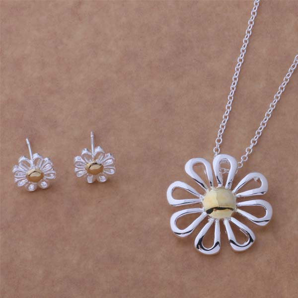 Free Shipping Promotion Silver plated Jewelry Sets Earring 219 + Necklace 302 blsakcza ekqanbxa AS122