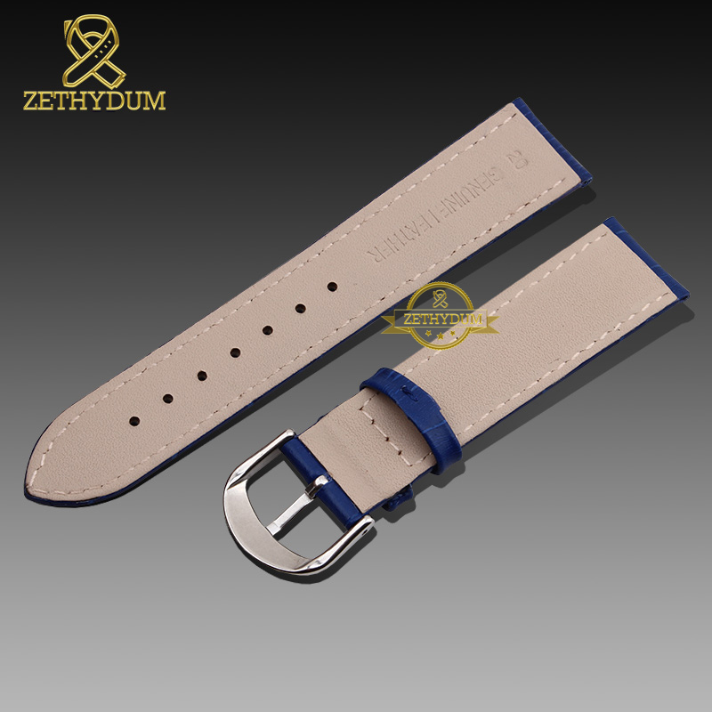 Image 4 - Genuine leather watch strap womens fashion bracelet  watchband wristwatches band multicolor 12 14 16 18 20mm pink blue red color-in Watchbands from Watches