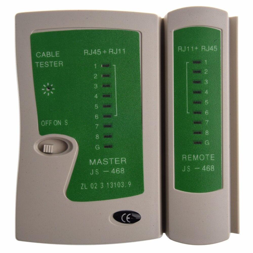 Профессиональный RJ45 RJ11Cat5 Cat6 LAN Кабельный тестер Ручной сетевой кабель тестер провода телефонной линии детектор трекер набор инструментов