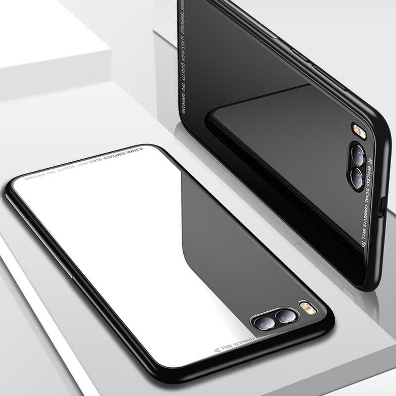 YUETUO tpu Tempered glass <font><b>battery</b></font> phone back etui,coque,<font><b>cover</b></font>,case for <font><b>xiaomi</b></font> <font><b>mi6</b></font> mi 6 my for ksiomi xiomi <font><b>original</b></font> accessories image