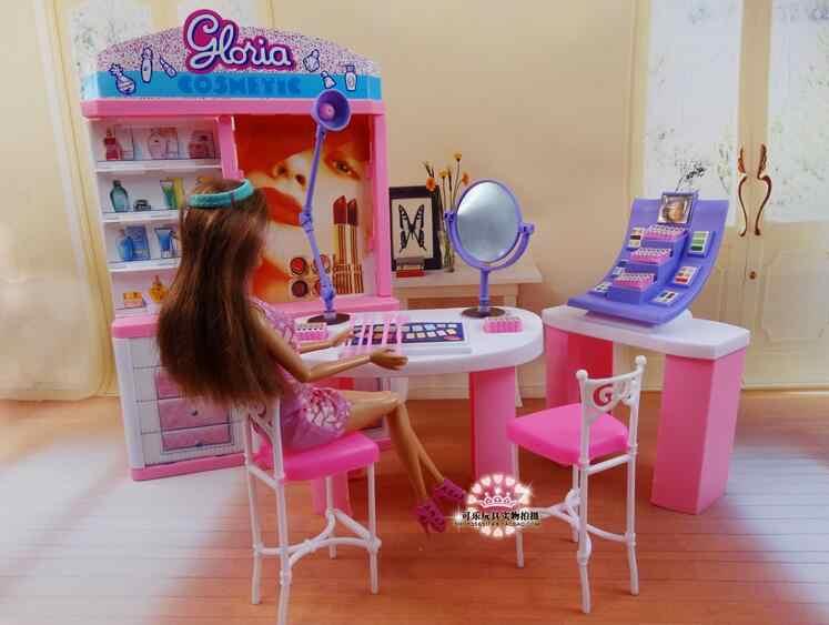 Asli Untuk Salon Kecantikan Barbie Makeup 1 6 Bjd Boneka Perlengkapan Mandi Berdandan Set Rumah Impian Furnitur Rumah Boneka Aksesoris Mainan Hadiah Aliexpress