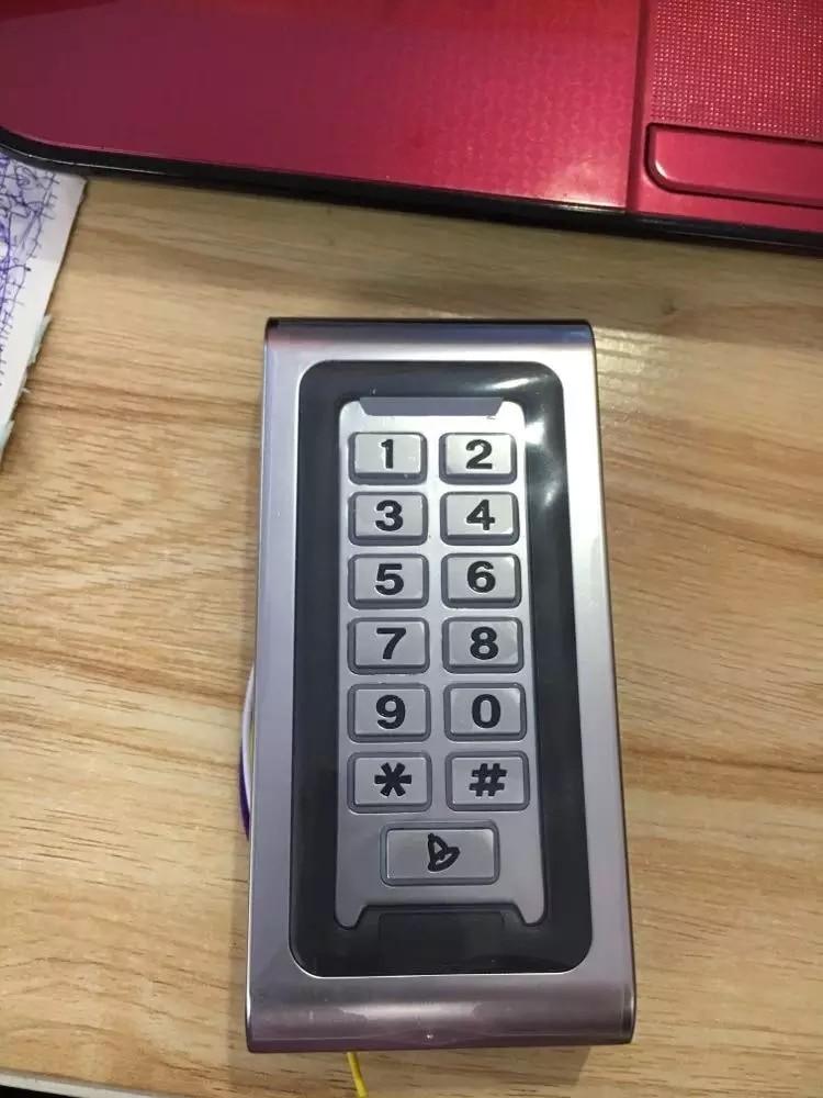 Waterproof Heavy Metal Standalone 125KHZ RFID Reader & Keypad Pin code Door gate lock opener Access Control Metal Keypad Case