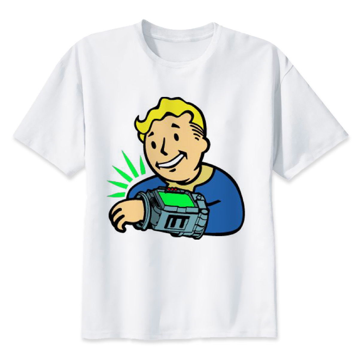 pip boy t shirt Men Print T-Shirts Fashion Print T-Shirts Short ...