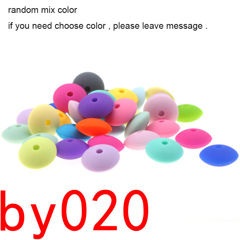 300PCS Abacus Silicone Beads For Teething Lentils Silicone Teething Beads Spacers Silicone Baby Teether Bead 12*6MM