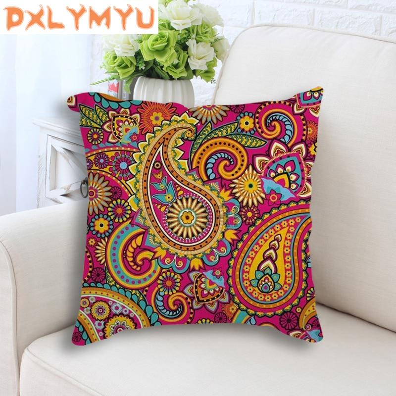 Bohemia Cushion Decorative Cushion Flowers Cotton Linen Throw Pillows Sofa Home Mandala Pillows Sofa Car Office Decor