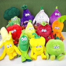A1000-1 Best gift children kids soft stuffed Toy Baby educational Toys colorful furit Vegetable 25-35cm can choose 1pcs