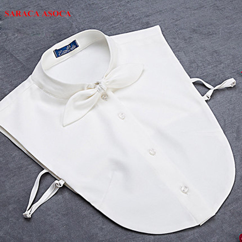 Fashion Fall /winter Clother Accessories White Lovely Bow Shirt False Collar Women Apparel Detachable Collars A105 SML size