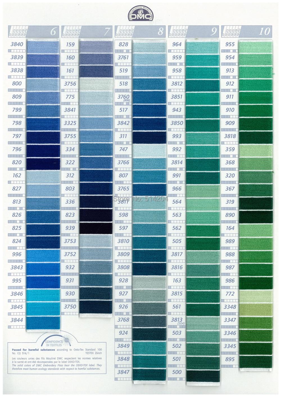 Aliexpress Buy 6pcspack Mouline Dmc Colors 6 Stranded Cotton
