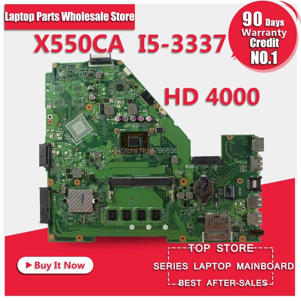 X550CA Motherboard i5-REV:2.0 For ASUS X550 X550CC Y581C R510C laptop Motherboard X550CA Mainboard X550CA Motherboard test ok цена