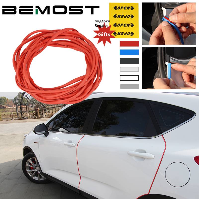 BEMOST Car Edge Door Moldings Crash Strip Protection Scratch Sticker Auto Styling For Dacia For Duster Sandero Lodgy Dokker ceyes car styling mat case for dacia duster logan sandero stepway lodgy mcv 2 dokker auto interior accessories car styling 1pc