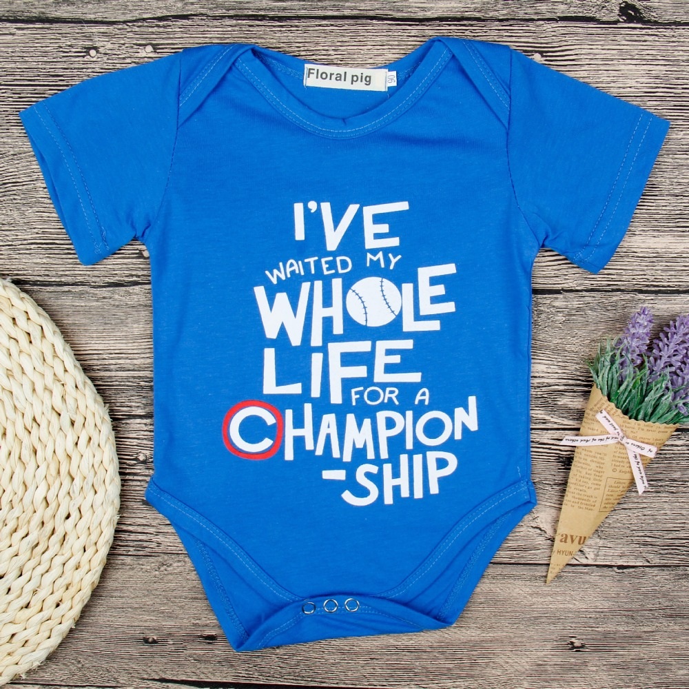 Baby Girl Romper 2018 Infant Clothes Baseball Champion ...