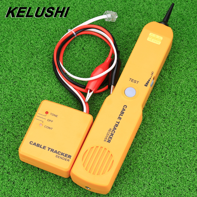 KELUSHI Portable RJ11 Network Phone Telephone Cable Tester Tracker Tracer Diagnose Tone Line Finder Detector Networking Tools