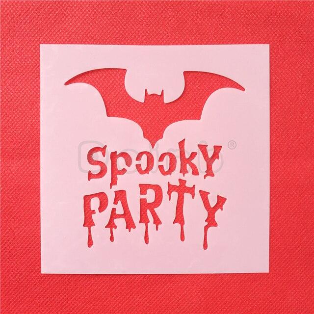 Bat Y Party Cake Stencil Pad Frosting Spray Cookie Stencils Fondant Decorating Mold