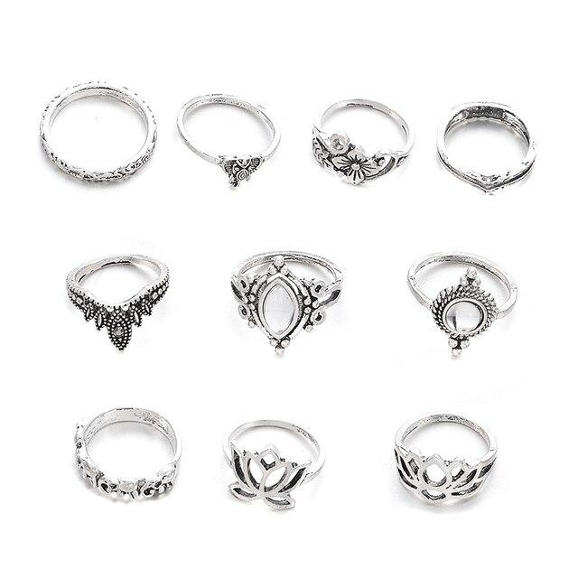 10pcs/Set Vintage Bohemian Ring Set (Less than 1$ each)