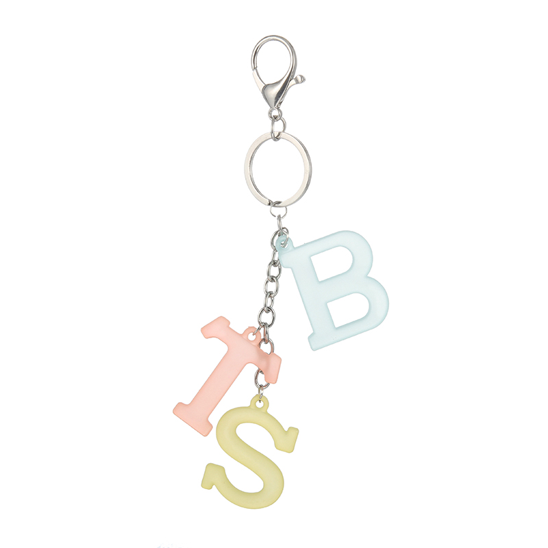 New Kpop BTS Bangtan Boys BT21 Army Fans EXO TWICE Candy Color Groups Names Key Ting Bag Pendant Key Ring Keychain