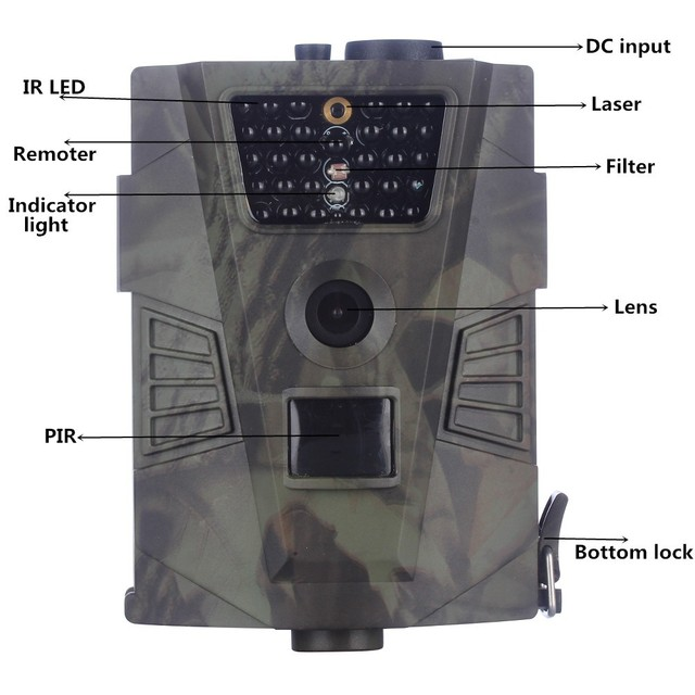 Prix bon marché Caméra De Chasse 12MP 1080 P caméra Sauvage avec LIR Noir 30leds vidéo de Chasse extérieure caméra de vision nocturne