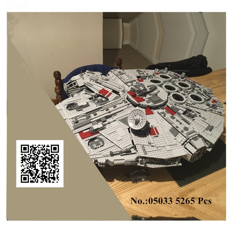 IN STOCK H&HXY Star 05033 5265Pcs Ultimate Wars LEPIN Collector's Millennium Falcon Model Building Blocks Bricks Toy Gift 10179 new 5265pcs star wars ultimate collector s millennium falcon model building kits blocks bricks kids toys compatible with 10179