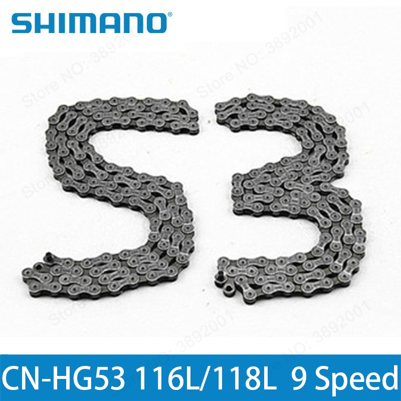 Cycling Bicycle Parts The Cheapest Price Shimano Alivio Cn-hg53 Deore Tiagra Super Narrow Hg 9 Speed Bike Bicycle Chain 112l118l Links Of M4000 M3000 M390 M370