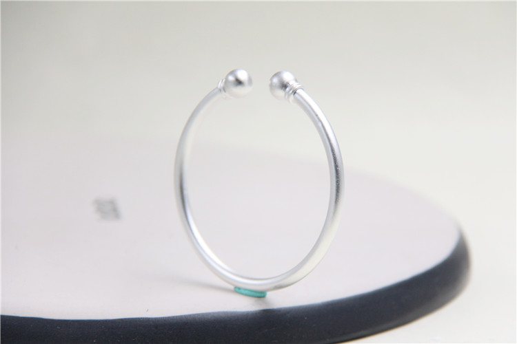 f8f152b2d6a Aliexpress.com : Buy JINSE Double Ball Charms Simple Matte Bangle ...