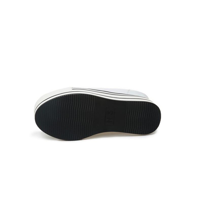 Semelles Décontractées White Véritable Talons Plate Super Cuir Mode Lacets Pompes En Marque De Hauts À Femmes Fille Baskets Épais forme Grimpante Compensées Chaussures black w81ARq