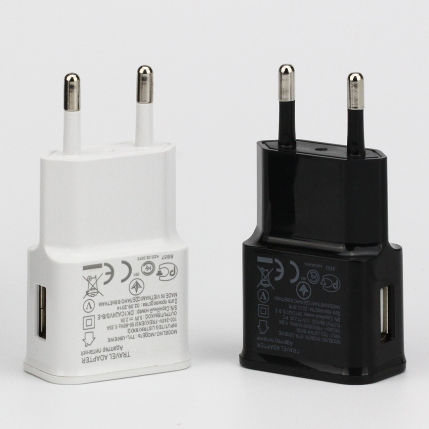US $155.57 |5V Black White Mobile Phone Charger EU Plug Wall USB charger Adapter for iPhone Samsung Xiaomi Huawei Charging Head 200pcs|Chargers|