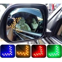 New Universal 2 Pcs Arrow Panel 14SMD LED Car Side Mirror Turn Signal GREEN