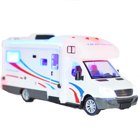 1:36 Die cast Holiday Motorhomes Morto Home Camper Van Model Diecast with Light and Sound, Pull Back Camper Van 21CM