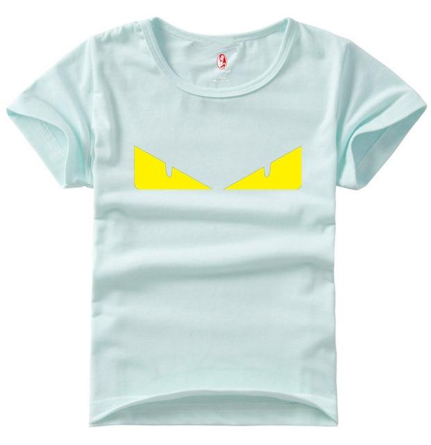 2017 High Quality kid clothes Little Devil Eyes Cartoon Children's T-Shirt for boy and girl T Shirt Camiseta Infantilg