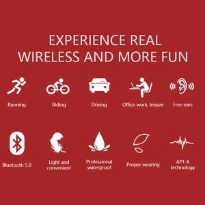 Image 5 - Bluetooth 5.0 R9 casque sans fil Conduction osseuse écouteur Sport de plein air casque avec Microphone mains libres casques