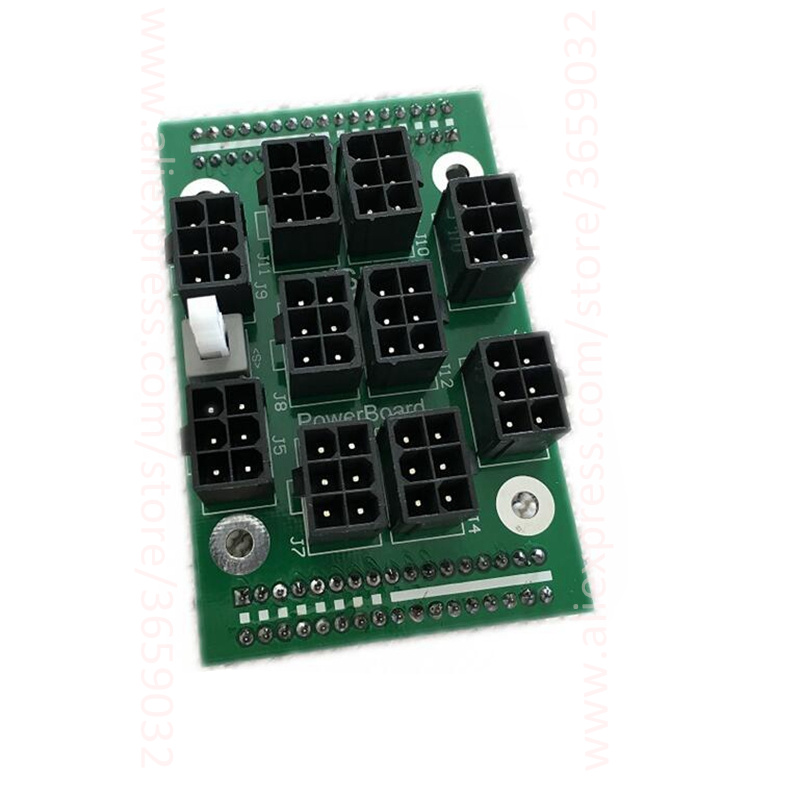 X3650 Server Power Breakout Adapter Board 12V 1600W 10x 6pin For S3 S7 A721 A741 IBM X3650 server PSU