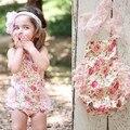 Ребенка комбинезон девушки цветочный костюм новорожденных комбинезон для детей новый новорожденных девочек летом кружева одежда Roupas Bebes Mameluco Infantil