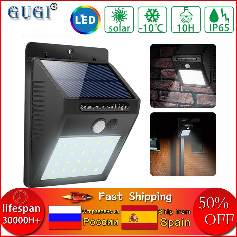 20 LED Solar Powered PIR Motion Sensor Light Outdoor Garden Security Lights MI