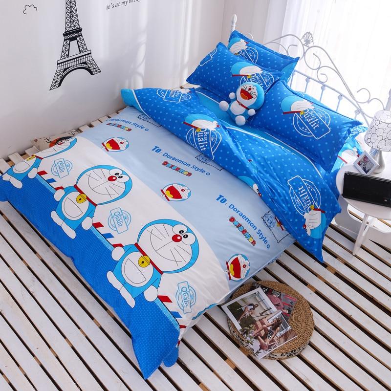 4pc cartoon beddingset duvet cover sheet pillowcase