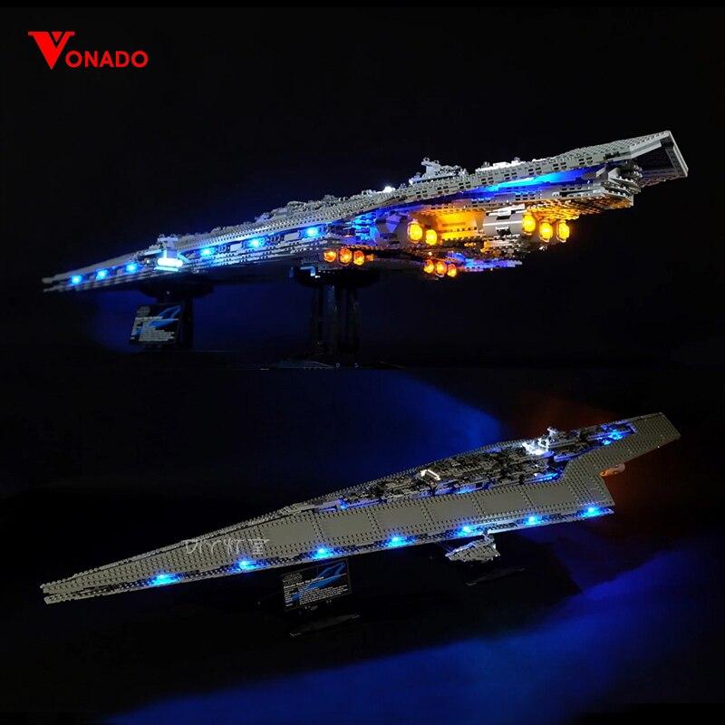 Juego de luces Led para Lego Star Wars 10221 Compatible con 05028 estrellas destructor bloques de construcción juguetes de ladrillos (luz LED + caja de la batería)-in Bloques from Juguetes y pasatiempos    1