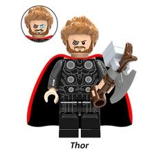 Single figures Marvel Avengers 3 Infinity War Thor Ragnarok Thanos Infinity Gauntlet Iron Man building blocks