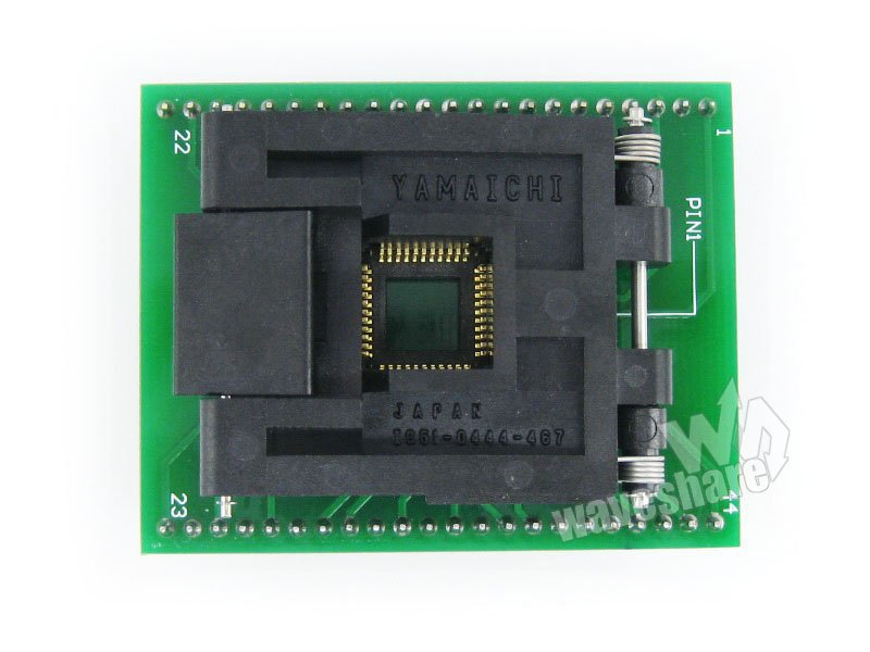 QFP44 TQFP44 FQFP44 to DIP44 Adapter IC51-0444-467 IC Test Socket Programming Adapter
