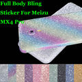 MX4 Pro New 360 Degree Full Body Decal Skin Bling Glitter Phone Protective Sticker Wrap Cover For Meizu MX4 Pro 5.5""