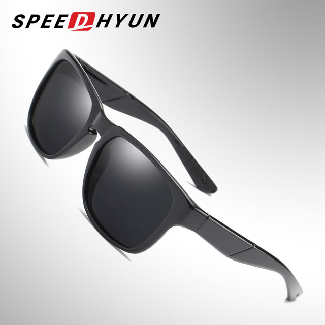 9b955499323 SPEEDHYUN Fashion Square Polarized Sunglasses Men Women Brand Designer  Coating Mirror Sun Glasses UV Protection Driving Eyewear