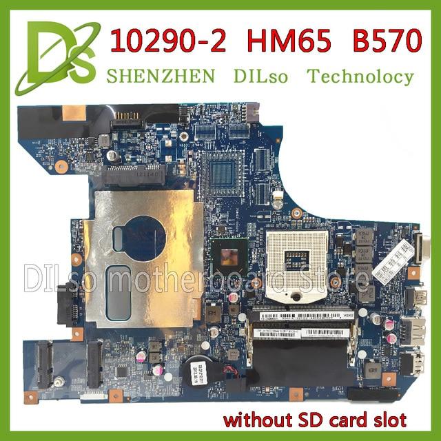KEFU 10290-2 48.4PA01.021 LZ57 MB mainboard đối với Lenovo B570 B570E bo mạch chủ V570 V570C bo mạch chủ HM65 PGA989 Kiểm Tra