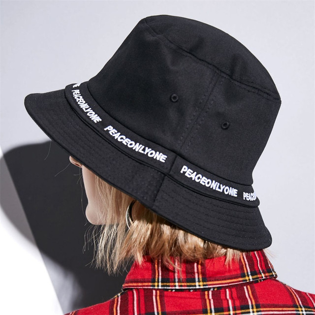 2bc67b48dee 2019 Sprint hats Fashion personality female ribbon letter basin cap Autumn  and winter new flat top