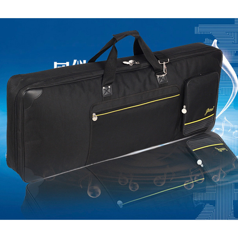 Wholesale professional Portable durable 61 key keyboard electric organ piano package bags soft cases gig cover waterproof black high grade new wholesale professional portable tenor saxophone bag bb sax gig case waterproof backpack soft cover padded thicker