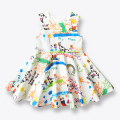 Girls Dress Spring Summer Baby Girls Clothes Children Dresses Painting Sleeveless European Kids Dress Princess Costume 3-12 Yrs