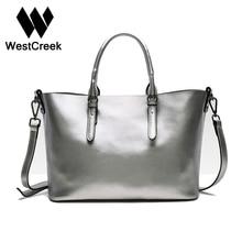 Westcreek Brand Ladies Famous Brand Genuine Leather Tote Bag High Capacity Shoulder Bag Luxury Handbags Designer