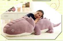 huge plush purple cartoon crocodile toy large stuffed crocodile doll gift about 160cm
