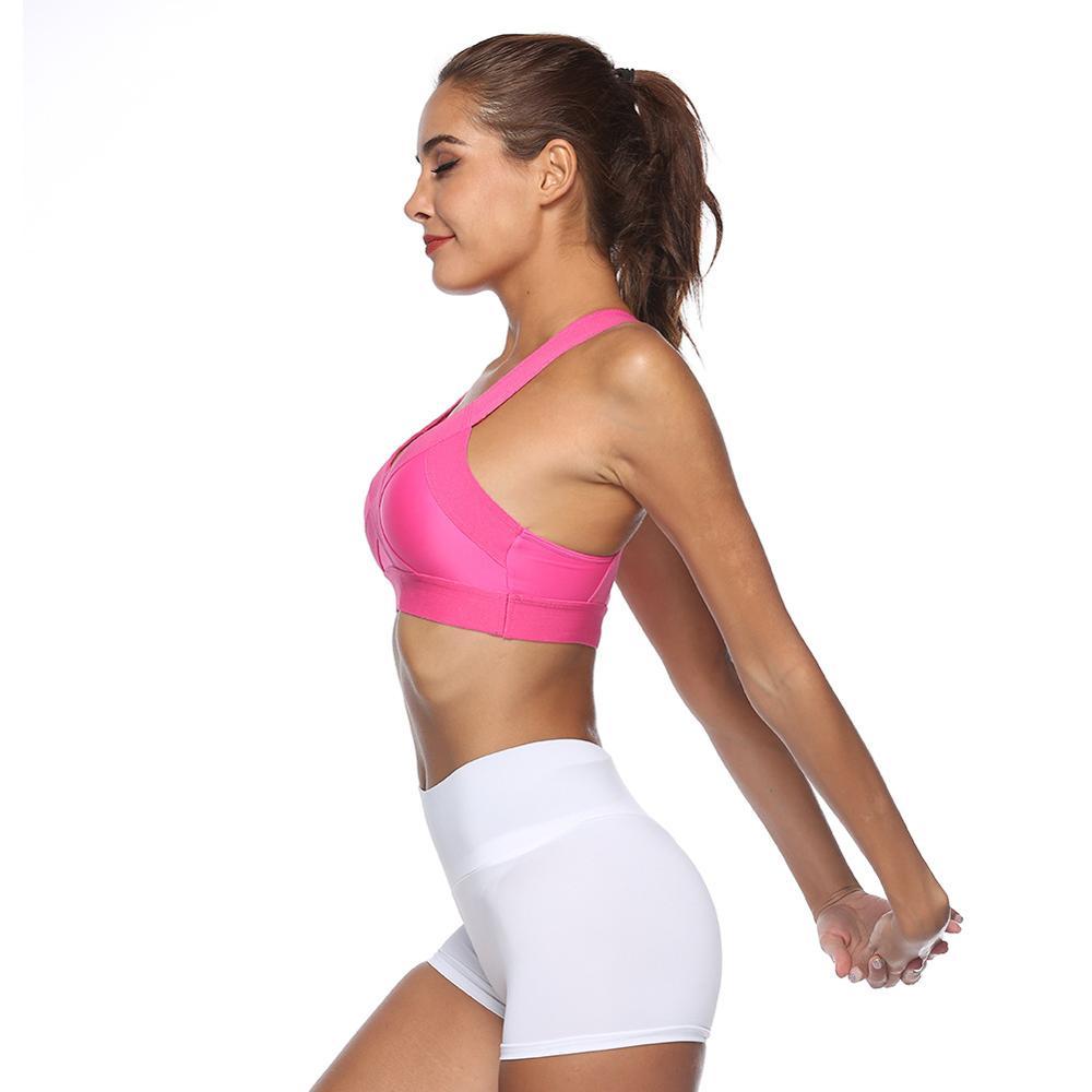 Home Hahasole Pink Color Yoga Sets Breathable Mesh Patchwork Workout Clothes Women Legging V-neck Bras Sport Suits Female Hwa1122-40