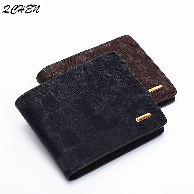Men's Wallet Coin-Bag Money-Clip Dollar Slim Purse Zipper Small Genuine-Leather Fashion
