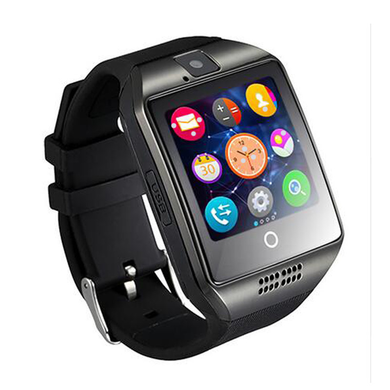 Q6 smart watch for android support GPRS bluetooth men women sport reloj inteligente for Samsung phone wearable GT08 DZ09  GV18 2016 bluetooth smart watch gt08 for