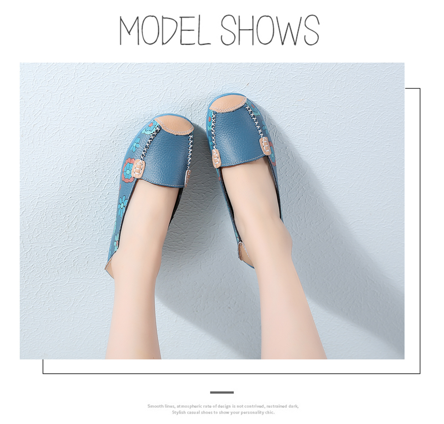 STS BRAND New Spring Women Genuine Leather Ballet Flats Casual Shoes Women Round Toe Slip On Flats Female Loafers Ballerina shoe (5)