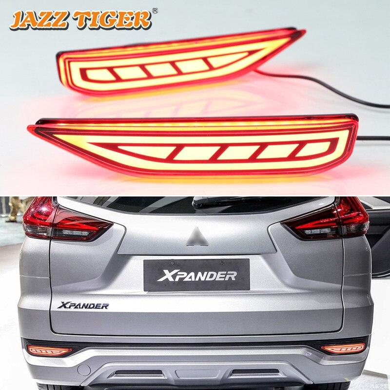 JAZZ TIGER Car LED Rear Fog Lamp Brake Light Reflector Bumper Light Auto Decoration Lamp For